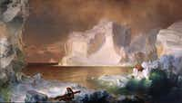The Icebergs is an 1861 oil on canvas by Frederic Edwin Church.( Dallas Museum of Art  - Digital File_UPLOAD)