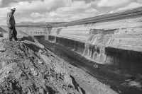 The mine's vast coal seam is 80 feet thick.