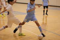Carlos Romero controls the ball at City Futsal in Carrollton.Photo submitted by FELIPE MARIEL