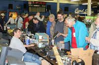 Radio operators browse booths at Hamfest, the Irving Amateur Radio Club's annual ham radio operator gathering. The club hosts Hamfest each March, bringing out hundreds of amateur radio enthusiasts.(Photo submitted by the IRVING AMATEUR RADIO CLUB)