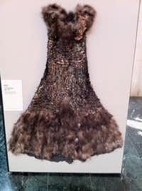 A dress crafted for the 1939 Turkey Trot Celebration in Cuero, Texas.