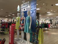 J.C. Penney's new displays have racks of the featured clothes right behind them.