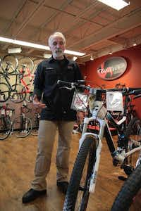 Sean McGrady works in sales for Plano Cycling and Fitness and rides his bike regularly.(Staff photo by CHRIS DERRETT)