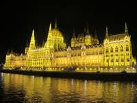 A night tour of Budapest on a Danube River cruise.