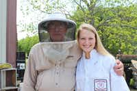 John Talbert, who serves on the Collin County Hobby Beekeepers Association board, has mentored many young beekeepers, including Collin County Honey Princess Hope Pettibon.(Photo submitted by CHRISTIE PETTIBON)