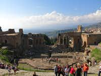 Taormina, Sicily , can be overrun with tourists in summer, but now is a great time of the year to visit.(Picasa)