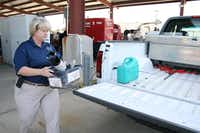 Although the West Nile season is over, Coppell continues to test its mosquitoes. Primeaux sets one mosquito trap a week to watch for the virus.(Staff photo by MEREDITH SHAMBURGER)