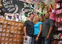 John and Nicole Meadows and their friend Isidro Iraheta's quirky nostalgic candy shop, Blooms Candy & Soda Pop Shop in Historic Downtown Carrollton, reflects their personalities, Nicole Meadows said.