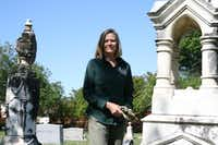 Candace Fountoulakis, a leading volunteer in the Plano Conservancy's cemetery restoration work, said she first became interested in the city's pioneer cemeteries when she was working for the city and saw a rundown cemetery behind a golf course.Staff photo by JULISSA TREVIÑO  -  neighborsgo