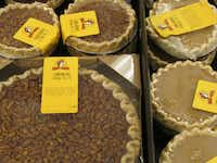 Don't miss the wide range of foods, including pies available in two sizes.