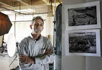 Photographer Terry Cockerham is shown in his studio. Cockerham travels to Big Bend every year for days at a time to take photographs. Some of his best are on display at the Irving Arts Center through June 28.( Staff photos by Gregory Castillo  - Staff Photographer)