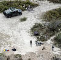 The National Guard patrols  the border at Rio Grande City. Authorities are seeing a spike in the number of children crossing into the U.S. without an adult despite colder weather coming on.(File 2015/The Associated Press - AP)