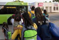 In April, immigrant families, many of them Central American mothers with children, boarded a bus to McAllen. The Border Patrol later released them with notices to appear before immigration judges.( The Associated Press  - AP)