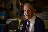"Robert Jones, 91, opened Import Books after some success selling Spanish children's books and song books and Spanish-language dictionaries out of his car. Unfortunately, Jones said, ""All bookstores are in trouble. People don't buy books anymore.""(ROSE BACA)"