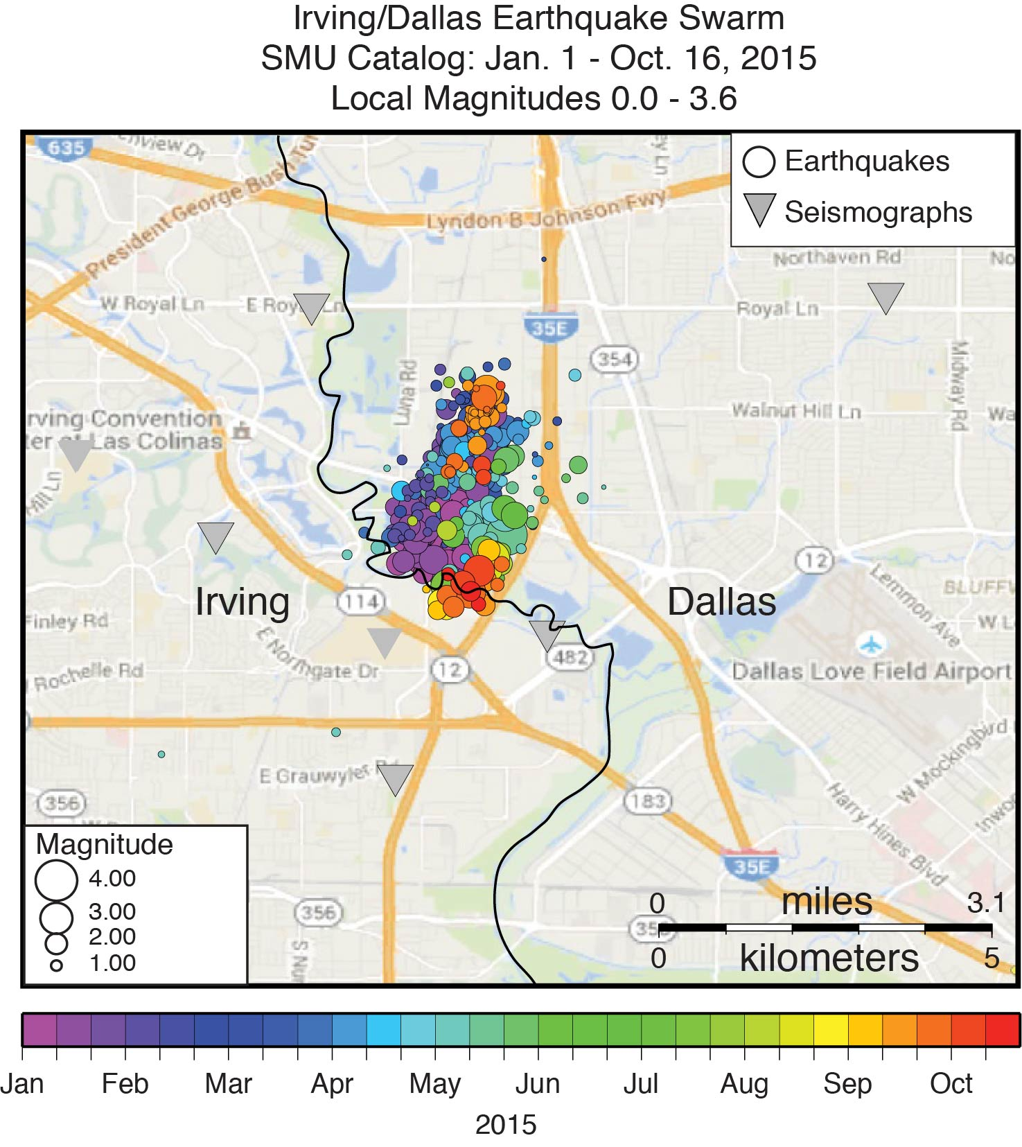 New SMU map shows Dallas, Irving keep earthquaking along fault line Dfw Traffic Map on