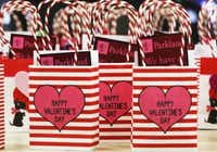 Nurses planned to hand out Valentine's cards and gifts for every patient in the Parkland system - over 2,500 in all. (Lawrence Jenkins/Special Contributor)