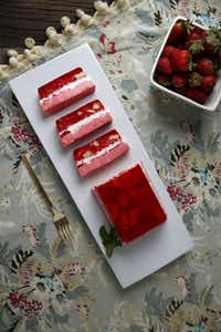 Strawberry sour cream Jell-O mold(Rose Baca - Staff Photographer)