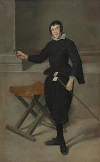 Diego Rodriguez de Silva y Velåzquez (Spanish, 1599-1660), Portrait of the Jester Calabazas, c. 1631-32. Oil on canvas. The Cleveland Museum of Art, Cleveland, Leonard C. Hanna, Jr. Fund, 1965.15.