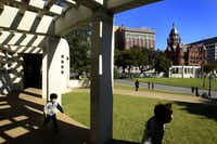 Restoring the pergolas atop the grassy knoll is among the Phase II improvements to Dealey Plaza. The Sixth Floor Museum is working to raise $2.2 million so the work will be finished in time for the 50th anniversary of the JFK assassination.