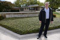 Andrew Laska, Richardson Heights neighborhood association president and co-founder of Preservation Richardson, stands at the entrance of the neighborhood where Marina Porter, former wife of Lee Harvey Oswald, lived after the events of 1963.ROSE BACA