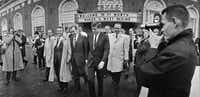 President John F. Kennedy and Vice President Lyndon Johnson walked through downtown Fort Worth early on Nov. 22, 1963.