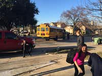 Xiomara Salazar (right), 10, raced to see her family's new rental home as she arrived home from school on Friday.( Nanette Light   -  Special Contributor )