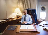 President Barack Obama  signed two presidential memorandums associated with his executive actions on immigration in his office on board Air Force One in Las Vegas on Friday.(Jim Watson -  Getty Images )