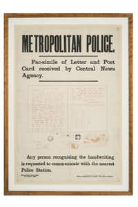 In 1888, police issued a poster asking the public to respond if they recognized the handwriting of a purported Jack the Ripper.( ? Museum of London  -  ? Museum of London )
