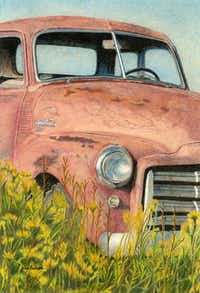 """Out to Pasture"" by Janet (Jessi) Bullard(Colored Pencil Society of America)"