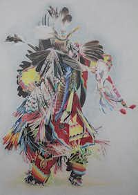 """Spirit Dancer"" by Janet (Jessi) Bullard(Colored Pencil Society of America)"