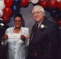 Jessie Mae Ned, a housekeeper once honored for her long service to Parkland Memorial Hospital, says she hasn't gotten the answers she wants from hospital CEO Ron Anderson (right) or the doctors who participated in the surgery and post-operative care that led to her leg amputation.