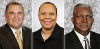 Jeff Johnson, left, Marian Willard, and Goree Johnson