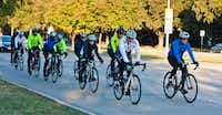 Cyclists ride on the streets of Plano during a Plano Bike Association group ride.(Photo submitted by JON FISCHER)