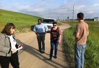 From left: Angela Hunt and Scott Griggs, seen here along the west levee in 2013, are the reasons Dallas got the trails in the floodway.