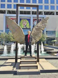 Jorge Marín is known for the large wings he puts on his sculptures.(Photo submitted by JENNIFER APPERTI)