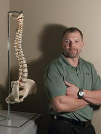 Laid off from a job selling building supplies, Josh Wilson enrolled at Parker University.  He plans to open a chiropractic practice in Oklahoma City.