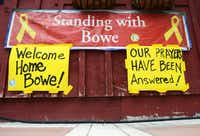 Signs went up at Zaney's coffee house in Sgt. Bowe Bergdahl's hometown of Hailey,  Idaho, after it was announced he had been released to U.S. special forces by the Taliban.Drew Nash  - News