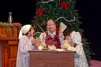 From left: Kuran Patel as Benjamin Moore, Brad M. Jackson as Clement Moore and Mimi Simons as Charity Moore star in the Dallas Children's Theater's 'Twas the Night Before Christmas at the Rosewood Center for Family Arts Nov. 22 to Dec. 22.