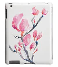 Mobile mural: Canadian artist Brazen Edwards reproduces her original art onto everyday items such as iPhone and iPad cases, pillow covers and prints. We love her Japanese Magnolia Sumi-e iPad cover — a reproduction of the original, created with soot ink, watercolors and powerful brush strokes. Cover for iPad and iPad Mini, $60 including shipping at BrazenDesignStudio on etsy.com.( Supplied  - SUPPLIED)