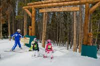 Porcupine Alley is one of the Kid's Adventure Zones at the Vail ski resort in Colorado.