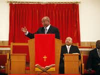 In his study at Illinois Avenue Missionary Baptist, the Rev. Herbert Thompson has other bibles. But it's the King James Version that he takes to the pulpit.