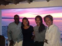 Ron Kirk vacationed with daughters Elizabeth (left) and Catherine and wife Matrice Ellis-Kirk at Martha's Vineyard about three years ago.