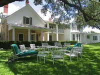 The LBJ Ranch home, also known as the Texas White House, is at the LBJ Ranch in Stonewall.