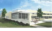 Part of LEEF's planned additions to Lakewood Elementary include a larger, open library with an outdoor learning patio.(Courtesy LEEF)