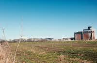 The Legacy West urban village will be constructed on more than 30 acres of vacant land on the west side of the Dallas North Tollway in Plano.(Steve Brown)