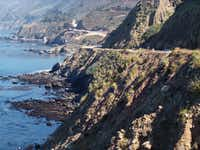 Every bend of the San Luis Obispo Highway is full of absurdly beautiful plunging cliffs and deep blue ocean views along the San Luis Obispo North Coast Byway in California.