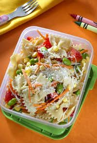 Rainbows and bowties pasta salad( TAMMY LJUNGBLAD  -  The Kansas City Star )