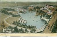 Built in 1888, the area now known as Lake Cliff Park became an amusement park in 1906.(Courtesy of the OLD OAK CLIFF CONSERVATION LEAGUE)
