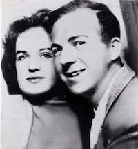 Marina and Lee Harvey Oswald are shown in a photo taken in a photography booth in Dallas, soon after they arrived here from the Soviet Union.