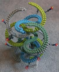 A LEGO statue named Flower by Nannan Zhang.